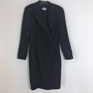 ESCADA vintage blazer dress suit 36 wool women's